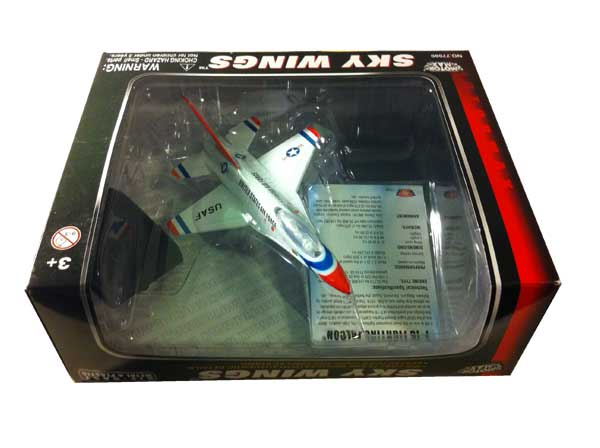 "F-16 Falcon Thunderbirds (Approx. 6""), Motormax Diecast Item Number DC6-F16"