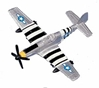 "P-51 Mustang (Approx. 3.5""), Motormax Diecast Item Number DS-P51"