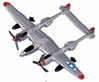 "P-38 Lightning (Approx. 3.5""), Motormax Diecast Item Number DS-P38"