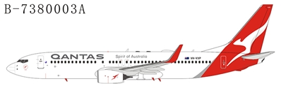 "Qantas 737-800 with Winglets VH-VXP ""New Colors"" (1:400)"