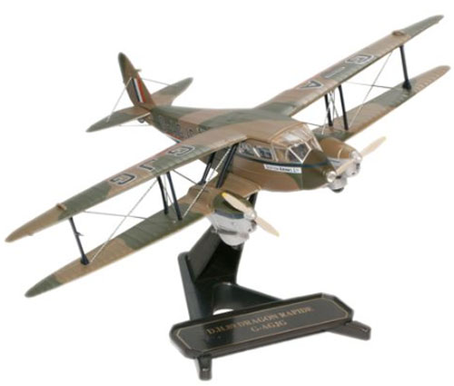 Scottish Airways, de Havilland DH.89A Dragon Rapide G-AGJG (1:72), Oxford Diecast 1:72 Scale Models Item Number 72DR003