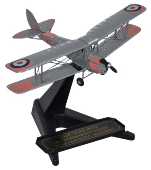 de Havilland DH.82A Tiger Moth - XL-714, HMS Heron Flight, British Royal Navy (1:72), Oxford Diecast 1:72 Scale Models Item Number 72TM008