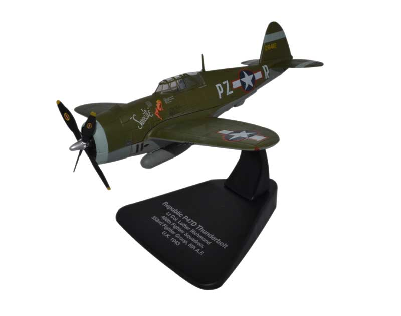 "Republic P-47D Thunderbolt ""Sweetie,"" Lt. Col. Luther Richmond, 486th FS, 352nd FG, USAAF, 1944 (1:72)"