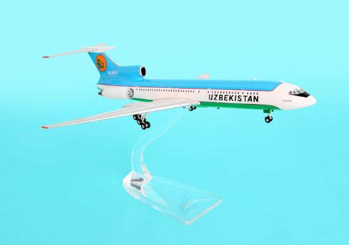 Uzbekistan Tu-154m ~UK85711 (1:400) by Phoenix 1:200 Scale Diecast Aircraft Item Number: PH2UBZ068