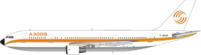 Airbus A300B4-203 (1970?s Delivery Colors) F-WUAB (1:400)