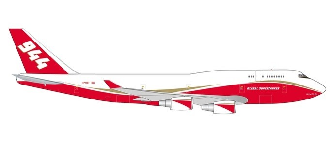 Global Supertanker Services B747-400 N744ST (1:400), Phoenix 1:400 Scale Diecast Aircraft, PH4GSTS1876