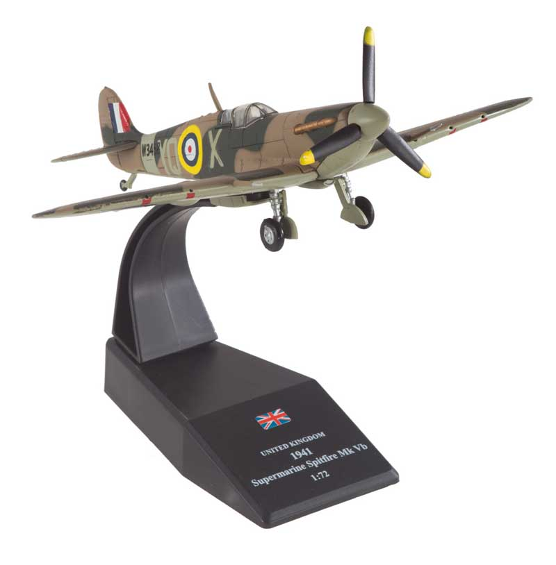 "Supermarine Spitfire Mk.Vb 1:72 Scale, Sqn Ldr L.H. ""Buck"" Casson, No. 616 Squadron, France, 1941 (1:72), Royal Air Force Diecast Item Number RAF40605"