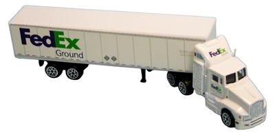 FedEx Ground Tractor Trailer (1:87), Realtoy Diecast Toys Item Number RT1037