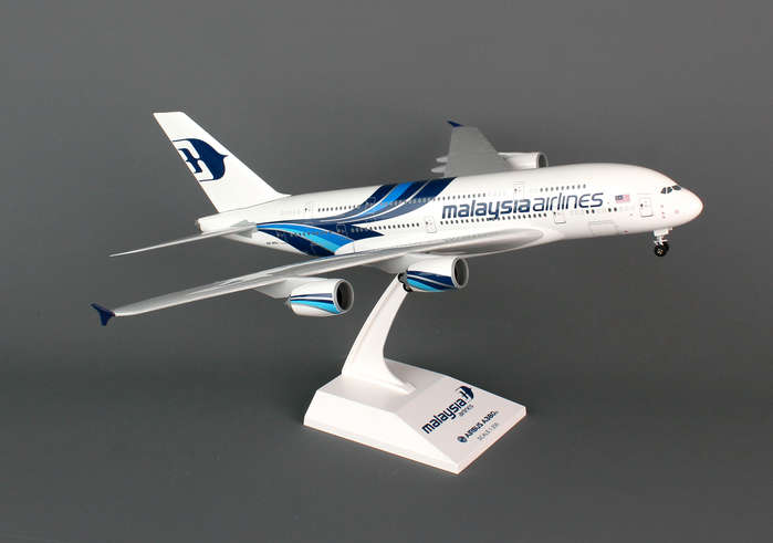 Malaysia A380-800 (1:200) W/GEAR New Livery, SkyMarks Airliners Models Item Number SKR693