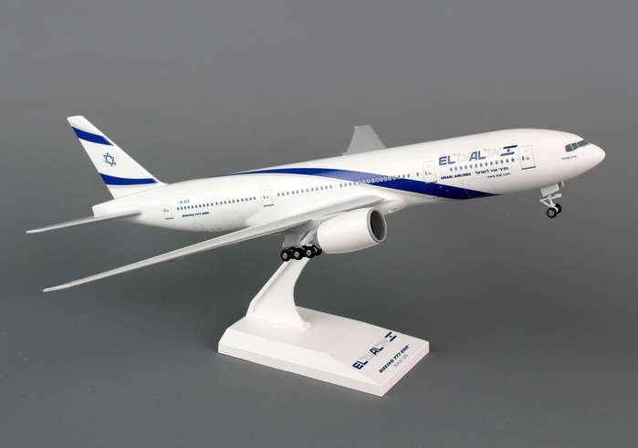 El Al 777-200 (1:200) With Gear, SkyMarks Airliners Models Item Number SKR752