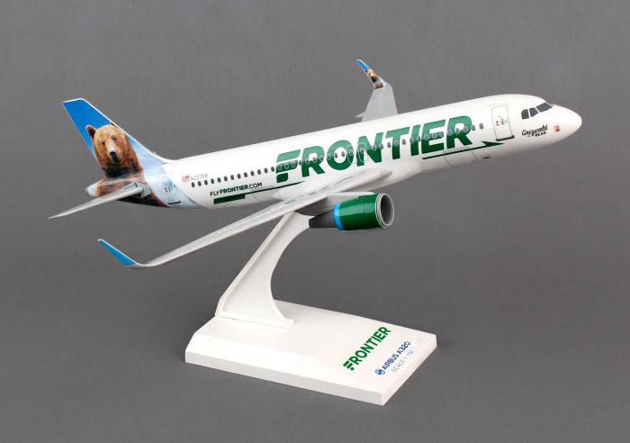 Frontier A320 with Sharklets (1:150) by Skymarks Supreme Desktop Aircraft Models item number: SKR806