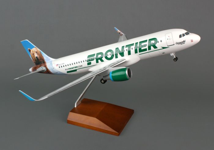 Frontier A320 with Sharklets (1:100) by Skymarks Supreme Desktop Aircraft Models item number: SKR8319