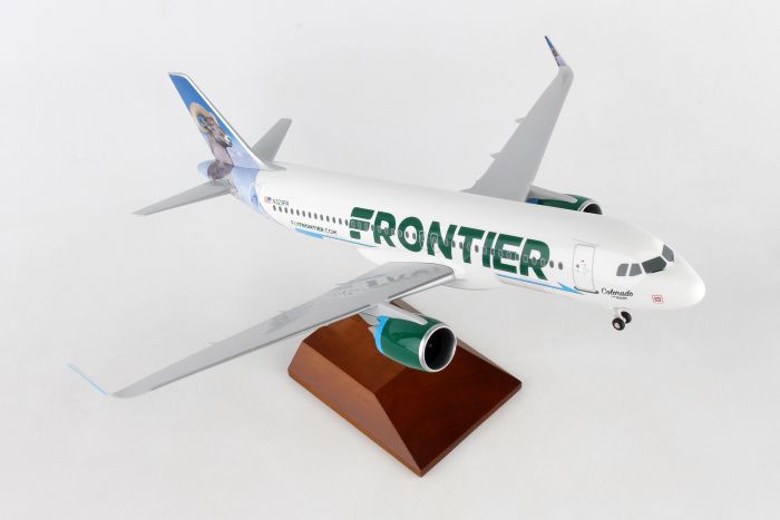 Frontier A320 Colorado Big Horn (1:100) by Skymarks Supreme Desktop Aircraft Models item number: SKR8355