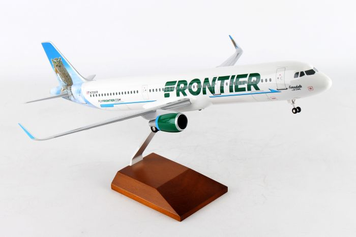 "Frontier A321 ""Ferndale Owl Tail"" With (1:100) by Skymarks Supreme Desktop Aircraft Models item number: SKR8409"