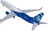 "Alaska 737-900 Veterans Livery ""Honoring Those That Serve"" (1:100), Skymarks Supreme Desktop Aircraft Models Item Number SKR8267"