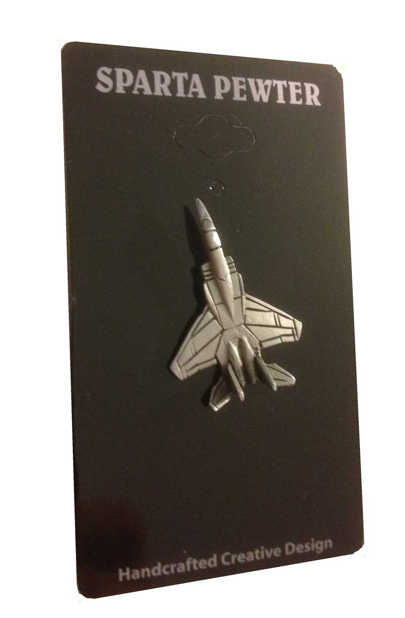 F-15 Eagle Lapel Pin / Tie Tack, Sparta Pewter Item Number SP-LP112