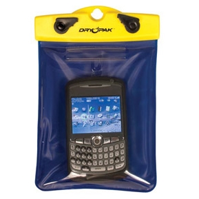 "PDA, GPS, Smart Phone Case, 5"" x 6"", Yellow/Blue, DryPak Item Number DP-56"