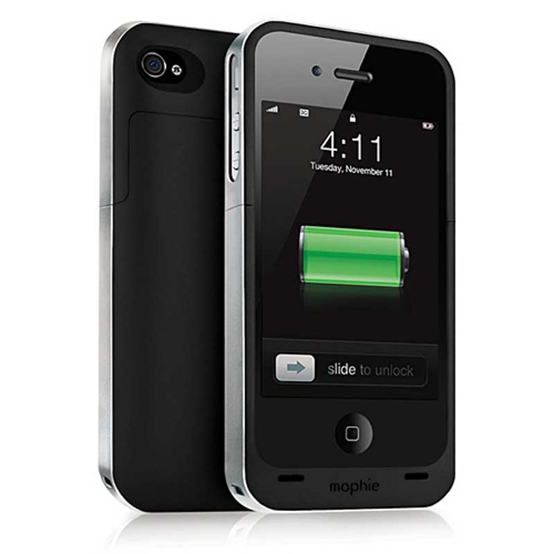 mophie Juice Pack Air for iPhone 4/4S, Black