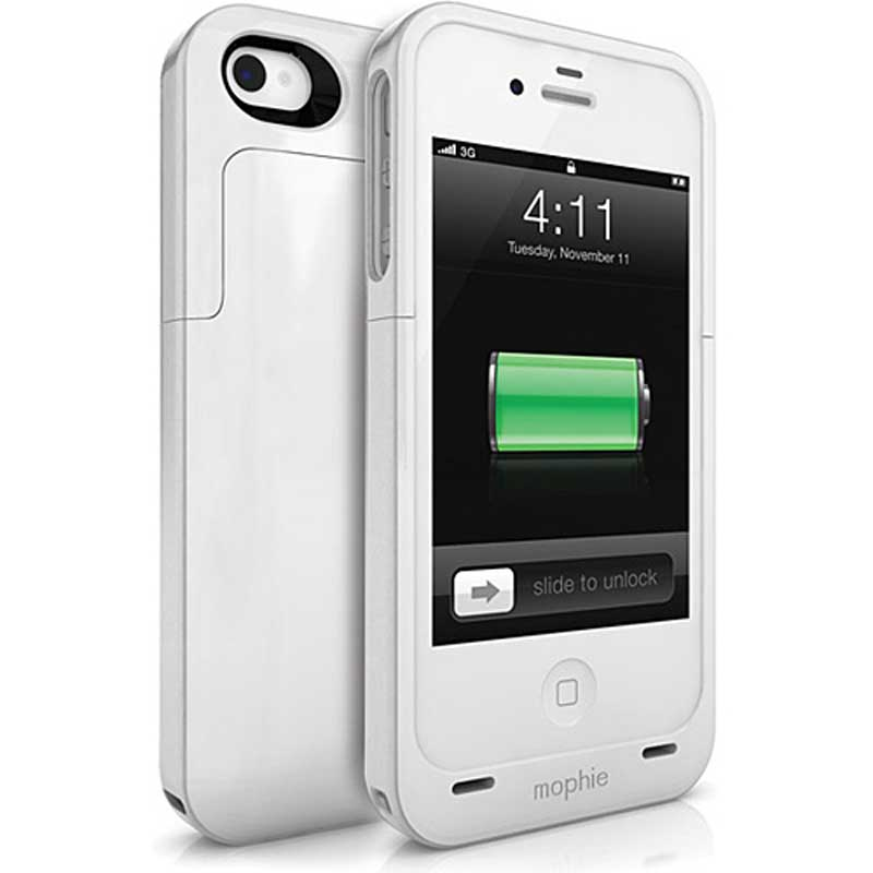 mophie Juice Pack Air for iPhone 4/4S, White