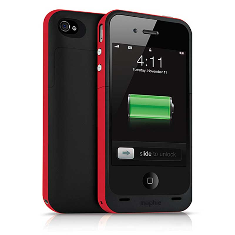 mophie Juice Pack Plus for iPhone 4/4S, (Pro, Mophie Item Number MO-1207-JPP-P-RED