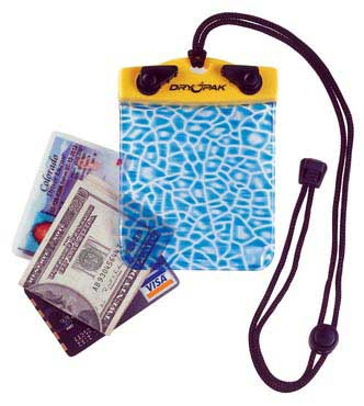 """Alligator"" Wallet, 4"" x 4"", Yellow/Blue by DryPak, Item Number DP-44"