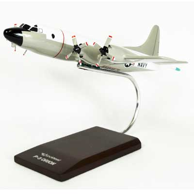 P-3C Orion (Hi-Vis White/Gray) (1:85), TMC Pacific Desktop Airplane Models Item Number AP03TR