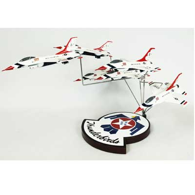 F-16 Thunderbirds in Formation (1:72), TMC Pacific Desktop Airplane Models Item Number CF016TF