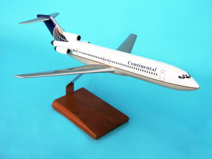 B727-200 Continental (1:100), TMC Pacific Desktop Airplane Models Item Number KB727CATR