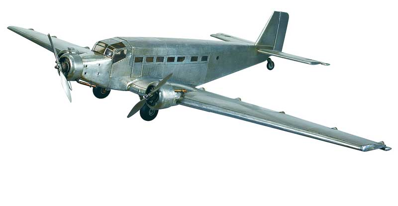 "Junkers JU52 'Iron Annie' (38.6"" Wingspan), Authentic Models Item Number AP454"