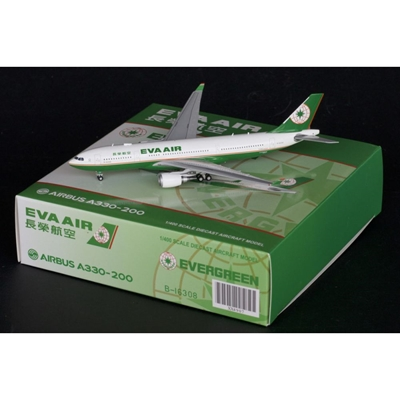 EVA Air A330-200 B-16307 with Antenna (1:400), JC Wings Diecast Airliners Item Number JC4EVA907