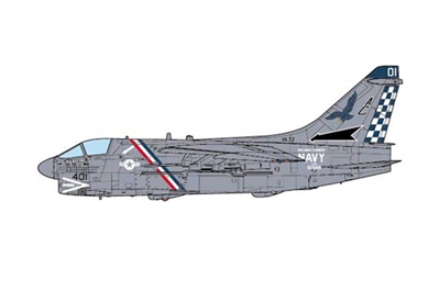 A-7E Corsair II, USN VA-72 Blue Hawks, USS John F. Kennedy (1:72), JC Wings Millitary Item Number JCW-72-A7-001