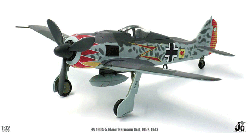 FW 190A-5 (1:72) Major Hermann Graf, Luftwaffe, JG52, Southern France, 1943 (1:72), JC Wings Millitary Item Number JCW-72-FW190-001