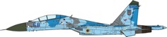 SU-27UB Flanker-B Ukrainian Air Force,  831 IAP, 20001:72