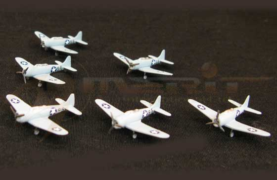 SBD-3 Dive Bomber - 6 piece set (1:350), Merit International Item Number MIL-89004