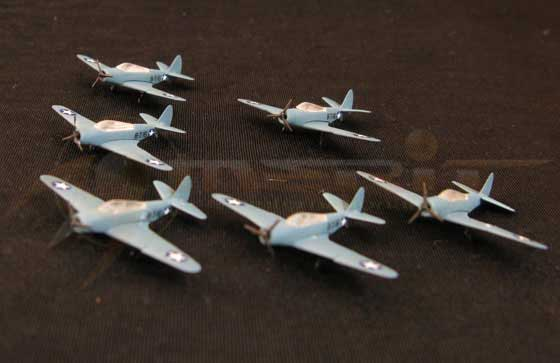 TBD-1 Torpedo Bomber - 6 piece set (1:350), Merit International Item Number MIL-89005