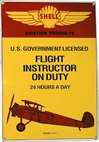 Flight Instructor on Duty Metal Sign