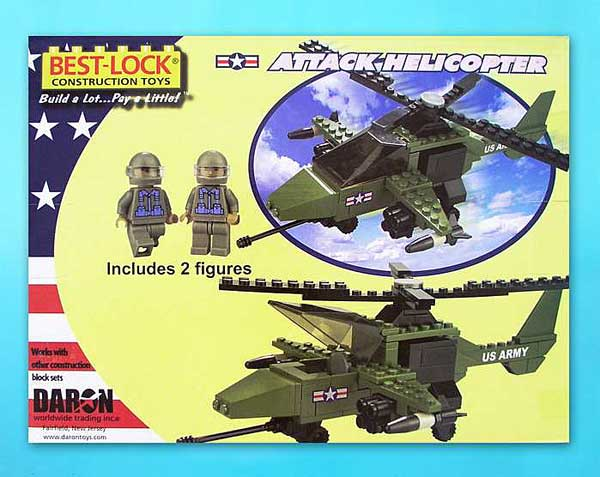 Attack Helicopter 140 Piece Construction Toy, Best Lock Item Number BL5561