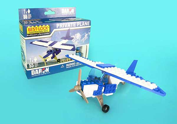 Private Plane 55 Piece Construction Toy, Best Lock Item Number BL999