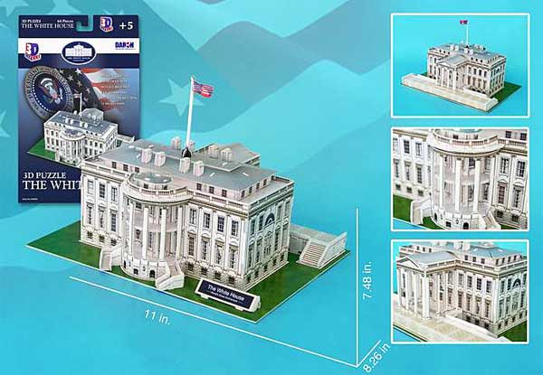 White House 64 Piece 3D Puzzle, Daron Toys Item Number CF060H