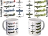 WW II Famous Fighter Aircraft Coffee Mug, Pilotwear Item Number MUG412M