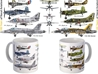 Naval Aviation Centennial Coffee Mug, Featuring Historic Naval Aircraft, Pilotwear Item Number MUG413M