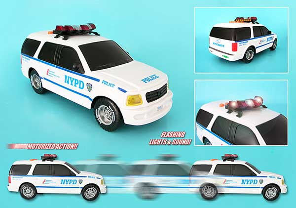 NYPD Motorized Suv With Lights & Sounds