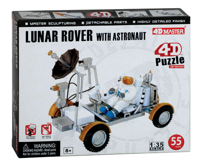 Lunar Rover with Astrounaut 4D Puzzle 55 Pieces, 3D Puzzles Item Number PZ26374