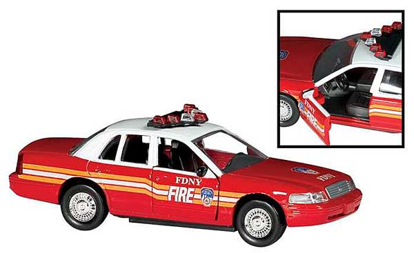 FDNY Fire CHIEFS Car, Realtoy Item Number RT8730