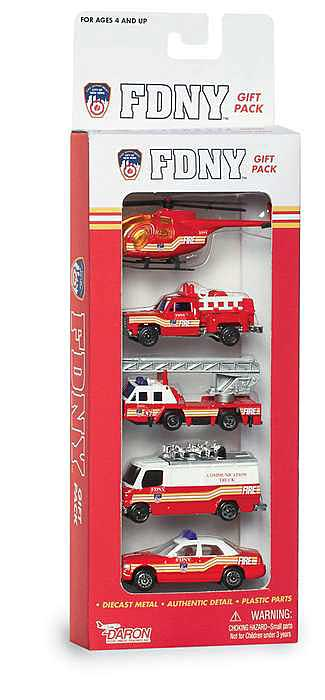 FDNY 5 Piece Vehicle Gift Set, Realtoy Item Number RT8750