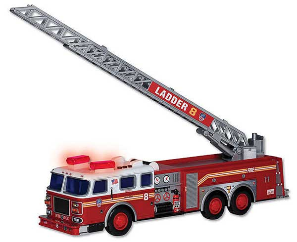 FDNY Ladder Truck W/LIGHTS & Sound, Realtoy Item Number RT8801