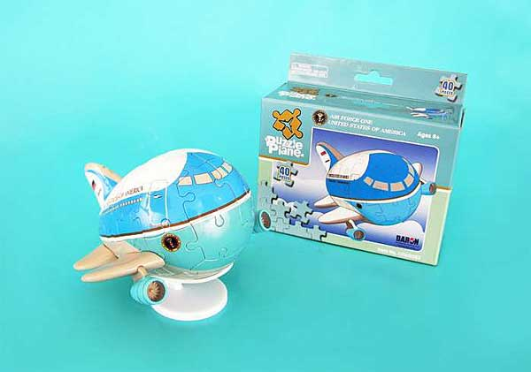 Air Force One Puzzle Plane, Daron Toys Item Number UT60007