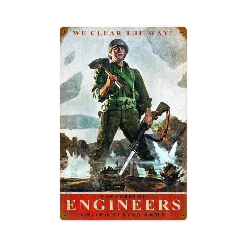 Army Corps Engineers Vintage Metal Sign, 12 By 18 by Vintage Sign Company item number: HA081