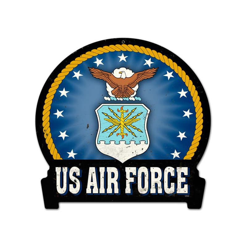 Air Force Vintage Metal Sign, 16 By 15 by Vintage Sign Company item number: HM006