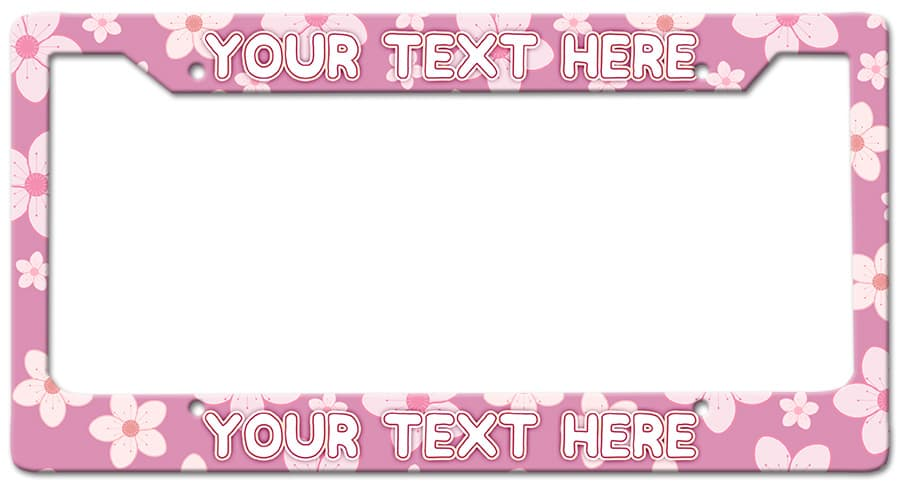 Cherry Blossoms Frame Vintage Metal Sign, 12 By 6 by Vintage Sign Company item number: LPF002